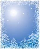 Fundo com uma neve, vetor do Natal ilustração stock