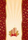 Fundo com velas do Natal ilustração stock