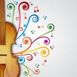 Fundo com violino Fotografia de Stock Royalty Free