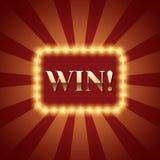 Fundo com vitória da rotulação Imagem de Stock Royalty Free