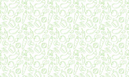 Fundo Coma saudável Ícones dos vegetais do vetor Textura sem emenda Fotos de Stock Royalty Free