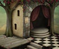 Fundo combinado dos quartos diferentes ilustração do vetor