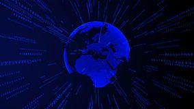 Fundo comercial futurista digital do Internet da terra ilustração do vetor