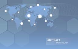 Fundo communicational global dos canais Ilustração do vetor Imagem de Stock Royalty Free