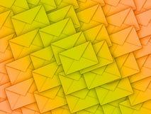 Fundo completamente dos envelopes ilustração do vetor
