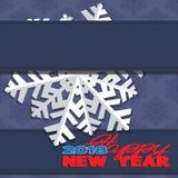 Fundo composto de flocos de neve do inverno Fotografia de Stock Royalty Free