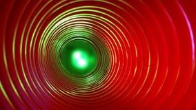 Fundo conceptual abstrato com elevação futurista - túnel do wormhole da tecnologia video estoque