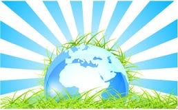 Fundo conceptual da ecologia Ilustração Stock