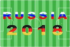 Fundo conceptual de Rússia 2018 Fotografia de Stock Royalty Free