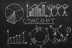Fundo conceptual do negócio e da educação imagem de stock royalty free
