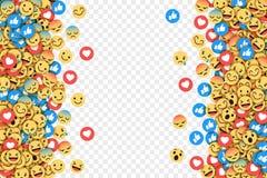 Fundo conceptual moderno liso de Emoji do vetor ilustração stock