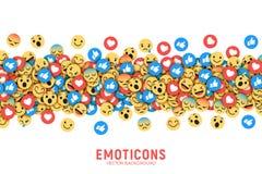 Fundo conceptual moderno liso de Emoji do vetor ilustração do vetor