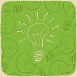 Fundo conceptual retro com símbolo da idéia Foto de Stock Royalty Free