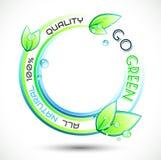 Fundo conceptual verde da ecologia Fotos de Stock