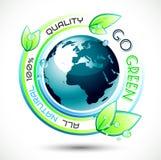 Fundo conceptual verde da ecologia Imagens de Stock Royalty Free