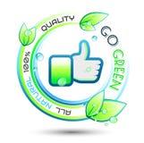 Fundo conceptual verde da ecologia Fotografia de Stock