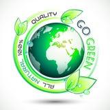 Fundo conceptual verde da ecologia com slogan relacionado verde Fotos de Stock