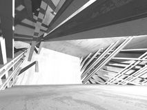 Fundo concreto geométrico abstrato da arquitetura Foto de Stock Royalty Free
