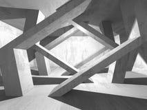 Fundo concreto geométrico abstrato da arquitetura Fotos de Stock