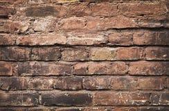 Fundo concreto rachado da parede de tijolo Fotos de Stock