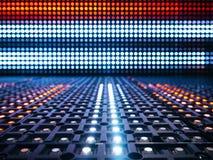 Fundo conduzido do teste padrão do sumário da tecnologia digital das luzes fotografia de stock