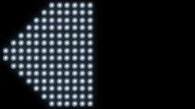 Fundo conduzido 4K do close-up da luz da parede vídeos de arquivo