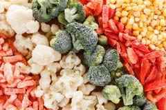 Fundo congelado misturado dos vegetais imagens de stock royalty free