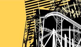 fundo Construção-amarelo Fotografia de Stock Royalty Free