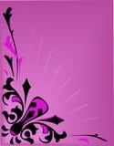 Fundo cor-de-rosa abstrato do vetor com luz Foto de Stock