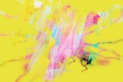 Fundo cor-de-rosa amarelo do verde azul no papel queimado ilustração do vetor