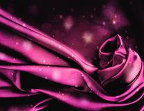 Fundo cor-de-rosa chique do cetim. Imagens de Stock Royalty Free