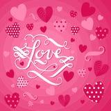 Fundo cor-de-rosa colorido com rotulação Imagens de Stock Royalty Free