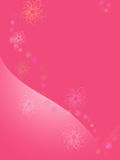 Fundo cor-de-rosa com coração ilustração royalty free