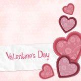 Fundo cor-de-rosa com corações Fotografia de Stock Royalty Free