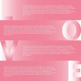 Fundo cor-de-rosa com corações e as estrelas transparentes, ilustração Projeto aphic de Infogr no fundo cinzento Arquivo do vetor Imagens de Stock