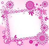 Fundo cor-de-rosa com ornamento floral Imagem de Stock Royalty Free