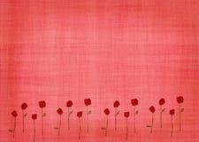 Fundo cor-de-rosa com rosas Imagens de Stock Royalty Free