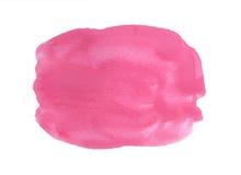 Fundo cor-de-rosa da aquarela isolado no branco Fotos de Stock