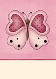 Fundo cor-de-rosa da borboleta Imagens de Stock