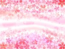 Fundo cor-de-rosa da cereja ilustração royalty free