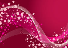 Fundo cor-de-rosa da estrela Imagem de Stock Royalty Free
