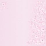 Fundo cor-de-rosa da flor com pérolas cor-de-rosa Fotos de Stock