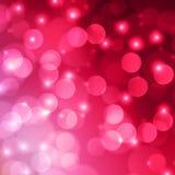 Fundo cor-de-rosa da luz do sumário do bokeh Ilustração Royalty Free