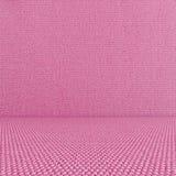 Fundo cor-de-rosa da sala de matéria têxtil Fotografia de Stock Royalty Free