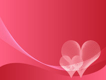 Fundo cor-de-rosa do amor ilustração do vetor