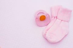 Fundo cor-de-rosa do bebê imagem de stock