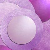 Fundo cor-de-rosa do círculo com disposição de projeto da textura, arte moderna abstrata do fundo com o botão vazio para o Web sit Fotografia de Stock