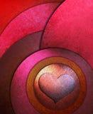 Fundo cor-de-rosa do coração ilustração royalty free