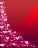 Fundo cor-de-rosa do coração da cor Fotografia de Stock