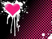 Fundo cor-de-rosa do coração do emo Foto de Stock Royalty Free